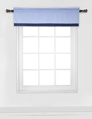 Elephants Blue/Grey Window Valance