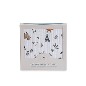 Little Unicorn Cotton Muslin Quilt - Forest Friends