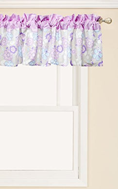 Trend Lab Grace Window Valance, Purple, Blue, Gray And White