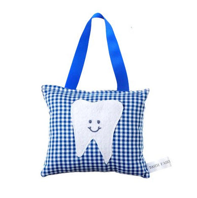 Boy'S Tooth Fairy Pillow In Royal Blue Gingham