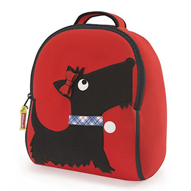 Dabbawalla Bags Scottie Dog Backpack, Red/Black