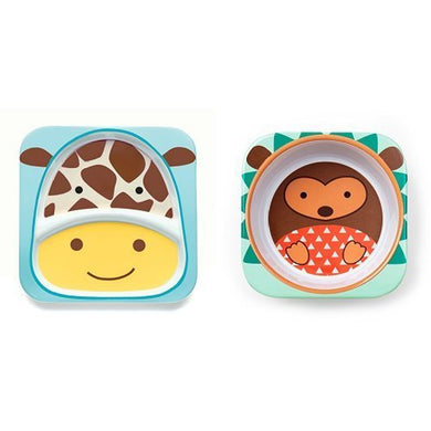Skip Hop Zoo Melamine Plate &Amp; Bowl Set, Hedgehog