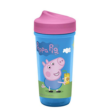 Zak Designs Toddleriffic Peppa Pig 8.7Oz Sippy Cup For Toddlers - Patented Perfectflo Adjustable Flow Valve And Leak-Proof Design, Peppa Pig
