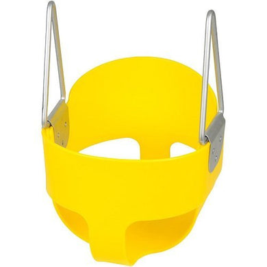 High Back Full Bucket Toddler Infant Swing Seat Yellow