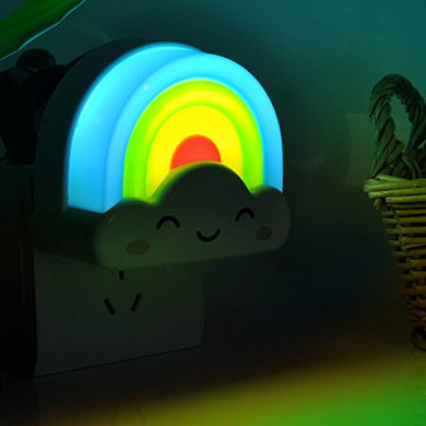 Colorful Sky Clouds And Rainbow Led Nightlight Desk Bed Lamps Sensor Led Night Light Children Moon Light,Great Gift For Baby Kids Adults