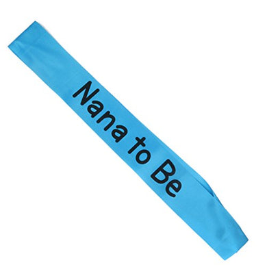 Writing Baby Shower Party Sash (Nana To Be, Blue)
