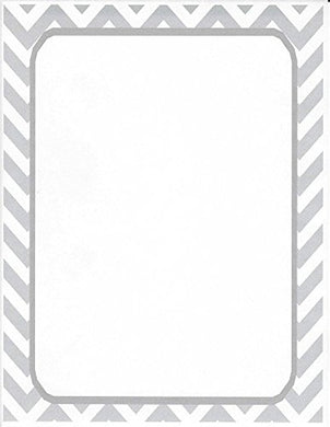 Gray Chevron Stationery Printer Paper 26 Sheets