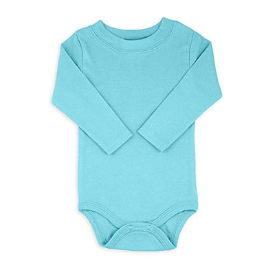Turquoise Long Sleeve Snapsuit Bodysuit Onesie - Size 6-12 Months