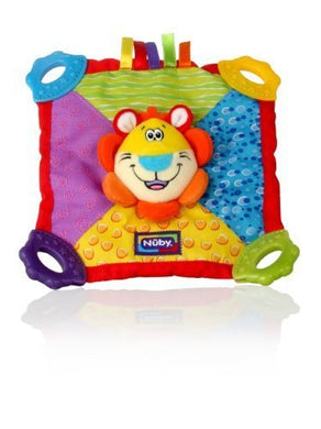 Nuby Plush Teething Blankie, Lion, Bpa-Free