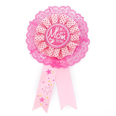 Mom To Be Writing Award Badge For Baby Shower Party Favor Pink