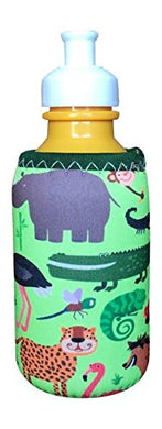 Koverz For Kids - #1 Neoprene Baby Bottle/Sippy Cup Insulator Cooler Coolie - Choose From 30+ Styles! - Zoo Animals