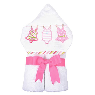 3 Marthas Boutique Everykid Hooded Towel (Pink - Bathing Beauties)