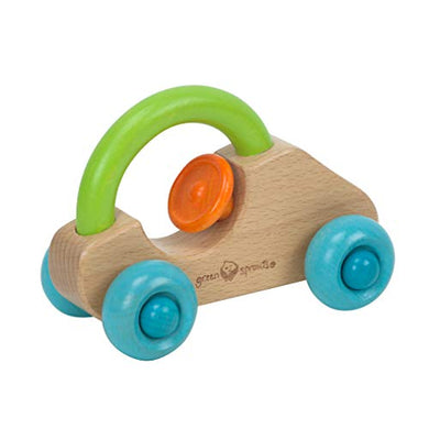Green Sprouts Push &Amp; Pull Car | Encourages Whole Learning The Healthy &Amp; Natural Way | Easy To Grasp &Amp; Hold, Made From Sustainable Wood, Develops Push &Amp; Pull Skills