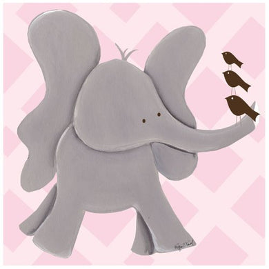 Doodlefish Gallery Wrapped 18X18 Wall Art, Ellie Elephant