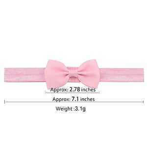 20 Pcsbaby Girls Headbands Hair Bows Headband Big Bow Hair Bands For Toddler (2.8 Inch 20 Pcs 644)