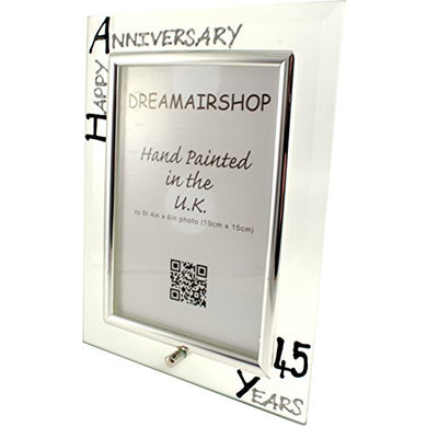 45Th Year(Sapphire) Wedding Photo Frame (P) (Black/Silver