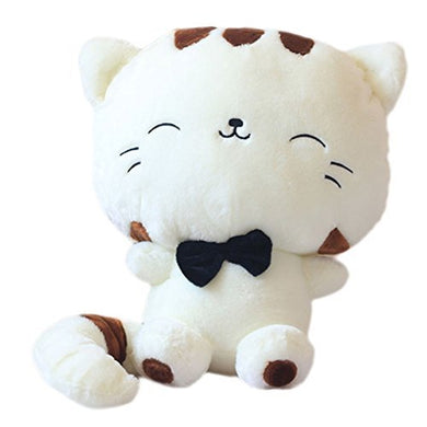 Tingxuan 18  45Cm Include Tail Cute Plush Stuffed Toys Cushion Fortune Cat Doll Beige