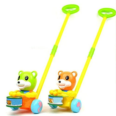 Kids Baby Pull Toys Early Childhood Educational Toy Hand Push Cubs Walking Walker Toys For Baby Boy Girl Toddler