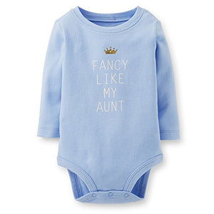 Carter'S F14 Slogan Girl Ls Fancy Like My Aunt Blue 6 Months