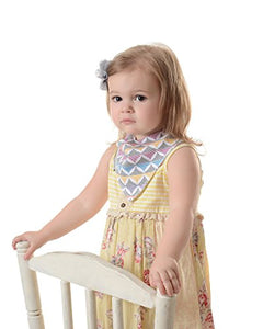 Bazzle Baby Banda Drool Bib, Triangle Stripes