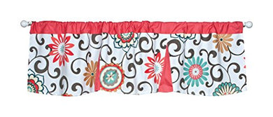 Trend Lab Waverly Floral Pom Pom Play Window Valance