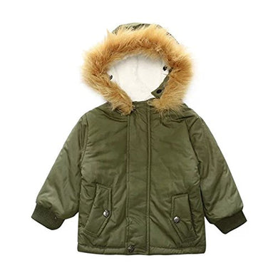 Baby Boys Gentleman Fall &Amp;Winter Warm Gown Coat Hooded Jacket Outerwear (6-12Months, Army Green)