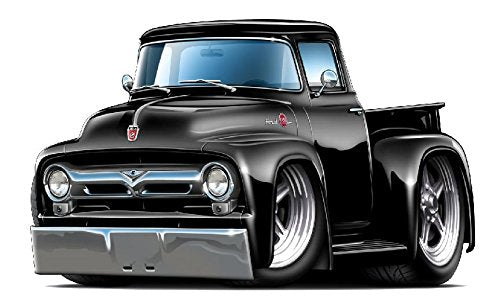 1956 Ford F100 Pickup Truck Wall Graphic Decal Sticker 4Ft Long Man Cave Garage Decor Boys Room Decor