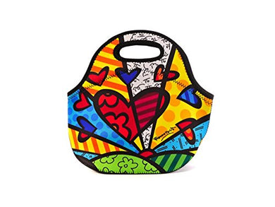 Britto Neoprene Lunch Bag - New Day Pattern