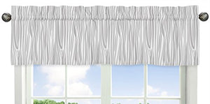 Window Treatment Valance For Coral, Mint And Grey Woodsy Girls Bedding Collection