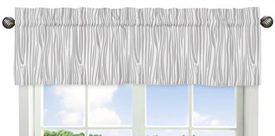 Window Treatment Valance For Navy Blue, Mint And Grey Woodsy Boys Bedding Collection