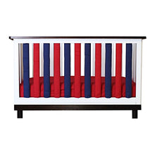 Load image into Gallery viewer, Pure Safety Vertical Crib Liners In Red/Navy Blue