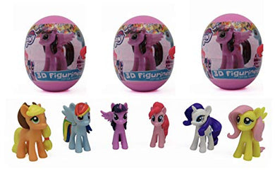 3 My Little Pony Surprise Eggs With Toy And Candy Inside. Exciting And Fun Toy By Bon Bon Buddies For Children As Seen In Unboxing And Unwrapping Videos On Youtube., Model: , Toys &Amp; Play