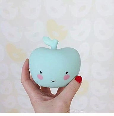 Ablegirl Smile Face Night Light Childrens Bedroom Nursery Lamp Light Children'S Gift (Apple-Green)