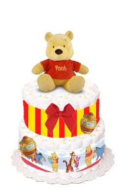 Winnie The Pooh Diaper Cake - Small Version