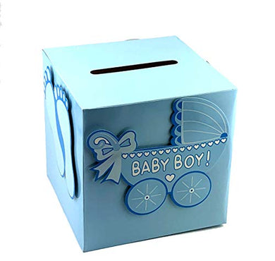 Adorox 3D Version Baby Shower Wishing Well Card Box Decoration (Boy)