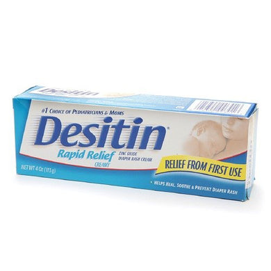 Desitin Rapid Relief Diaper Rash Ointment, Creamy 4 Oz (113 G)