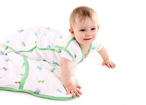 Slumbersafe Baby Muslin Summer Sleeping Bag Wearable Blanket 0.5 Tog Cars 0-6 Months/Small