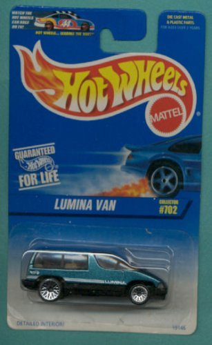 Hot Wheels 1997 Green & Black Lumina Van 1:64 Scale Collectible Die Cast Collector Car #702