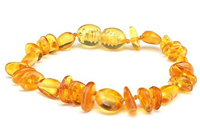 Polished Baltic Amber Baby Teething Bracelet/Anklet Multimix Beads Pbtb67 By Amber Corner
