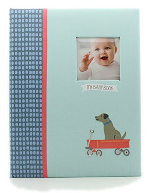 Carters Record Book Boy Blue Dog Train Scrapbook Memory Photo Album