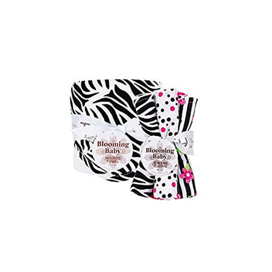 Trend Lab Hooded Towel And Wash Cloth Set, Black And White Zebra