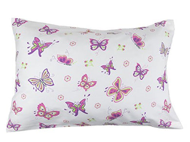 Bb My Best Buddy Toddler Kids Pillowcase - Butterfly/Butterflies 13 X 18 - Shrinks To Fit - 100% Cotton - Naturally Hypoallergenic And Soft - Designed In Usa