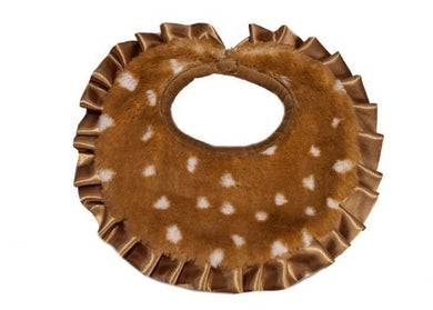 Pickles Journey Faux Fur Baby Bib, Fawn By Pickles