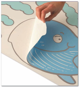 Funtosee Undersea Adventure Children'S Wall Decals, Seahorse And Whale Scene