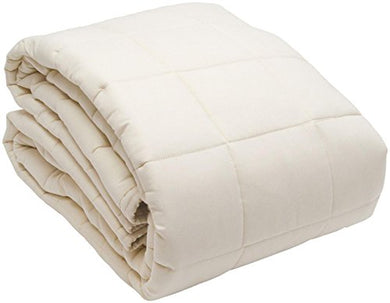 Naturepedic Organic Non-Waterproof Quilted Topper W/Straps - Twinxl
