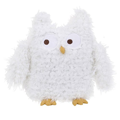 Nojo Teepee Plush Furry Owl, Navy, Red, Ivory