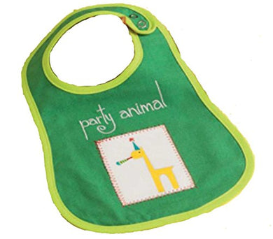 Tag Embroidered Party Animal Bib