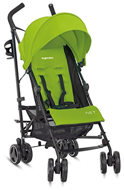 Inglesina Net Stroller - Lightweight Summer Travel Stroller - Upf 50+ Protection Canopy With Removable And Washable Seat Pad {Citronella/Green}