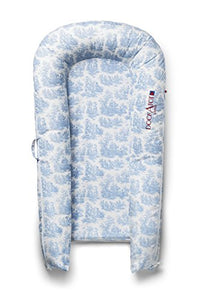 Cover Only (Toile De Jouy Dusty Blue) For Dockatot Grand Dock - Dock Sold Separately - Compatible With All Dockatot Grand Docks