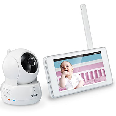 Vtech Vm991 Wireless Wifi Video Baby Monitor With Remote Access App, 5-Inch Touch Screen, Remote Access Pan, Tilt &Amp; Zoom, Motion Alerts &Amp; Support For Up To 10 Cameras